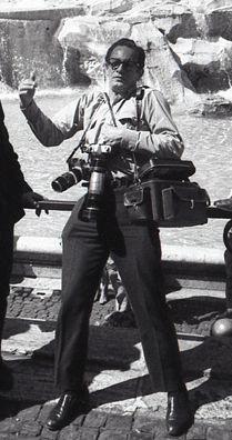 Nereo en la fuente de Trevi, Italia, agosto de 1968