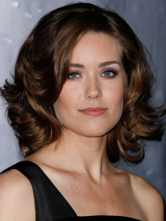 hair styles layered megan boone curly shoulder length hairstyles 8064