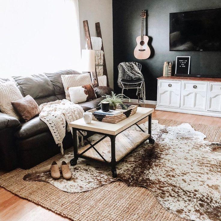 Cowhide Rug Living Room In 2020 Rugs In Living Room Cow Rug Living Room Cowhide Rug Living Room