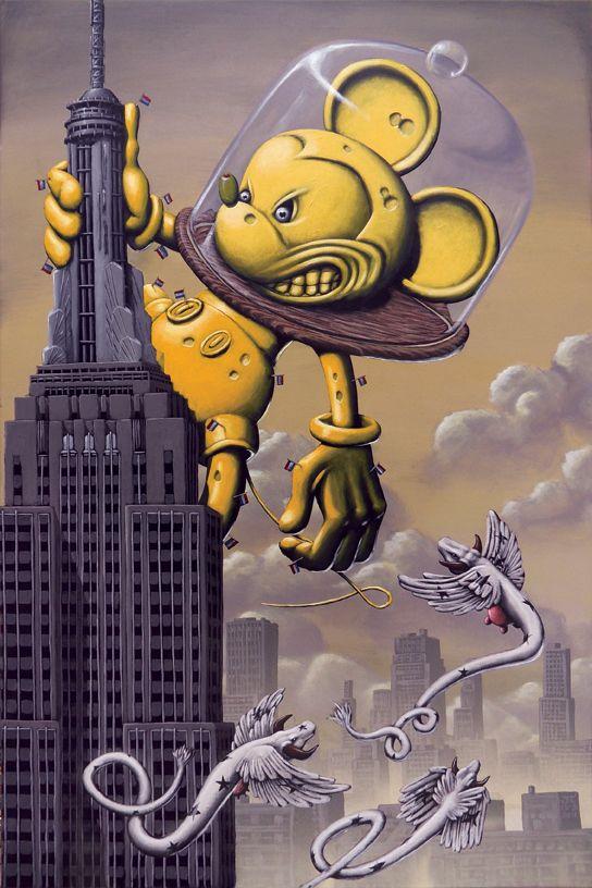 Big-Chees, acrylic on canvas - Pieter Borst via BROOKLYN ART PROJECT