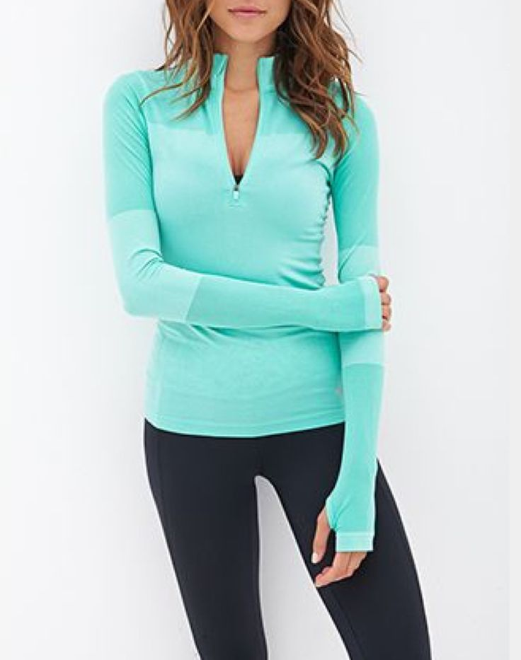 Light Blue Color Block Running Top