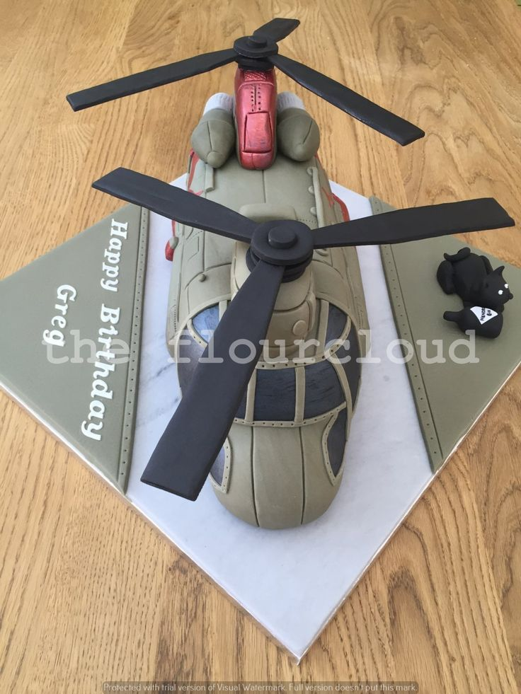 Chinook helicopter birthday cake.