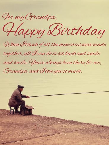 25 best birthday cards for grandfather images on pinterest you make me smile happy birthday wishes card for grandpa wish a very happy bookmarktalkfo Images