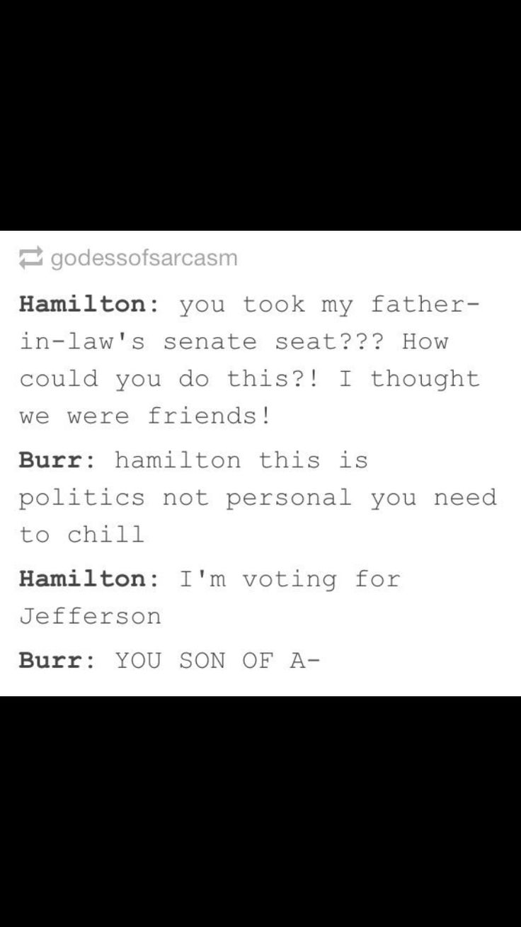 Jefferson has beliefs; Burr has none.
