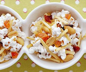 Pop popcorn according to package directions. Pour popcorn into a very large bowl; coat lightly with cooking spray.