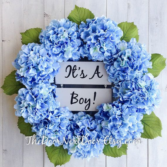 Its A Boy Wreath  Baby Boy Wreath  Baby by TheDoorNextDoor on Etsy