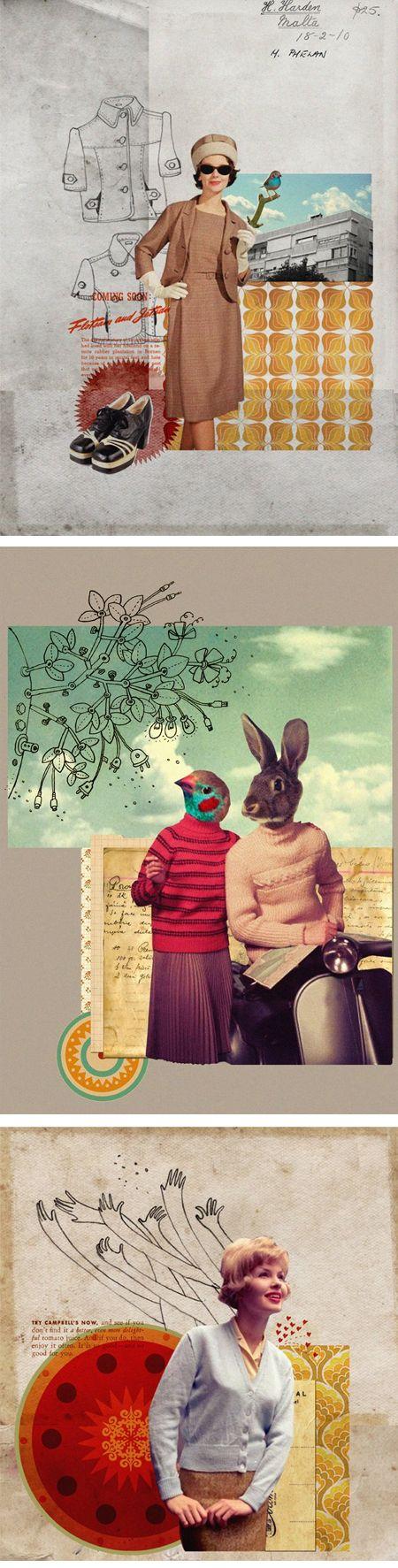 Esen Demirci: Journals, Jealous Clean, The Artists, Collage Art, Esen Demirci, Illustration, Graphics, Fk Esendemirci, Mixed Media Collage