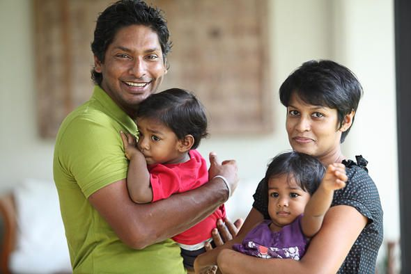 Kumar Sangakkara family photo album