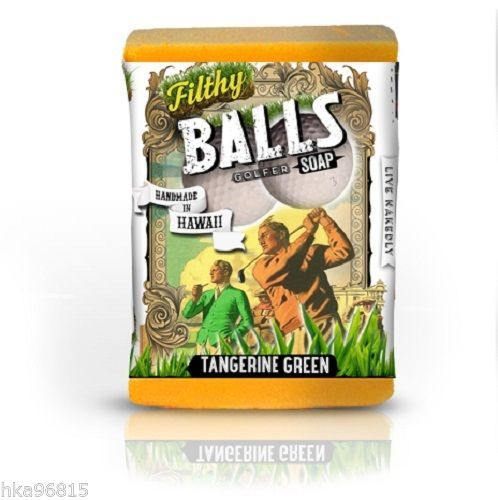 Filthy Balls Golfer All Natural Large Bar Glycerin Soap Turmeric Tangerine Soy