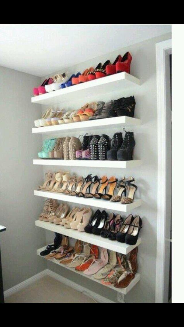 les 81 meilleures images du tableau rangement chaussures sur pinterest rangement chaussures. Black Bedroom Furniture Sets. Home Design Ideas