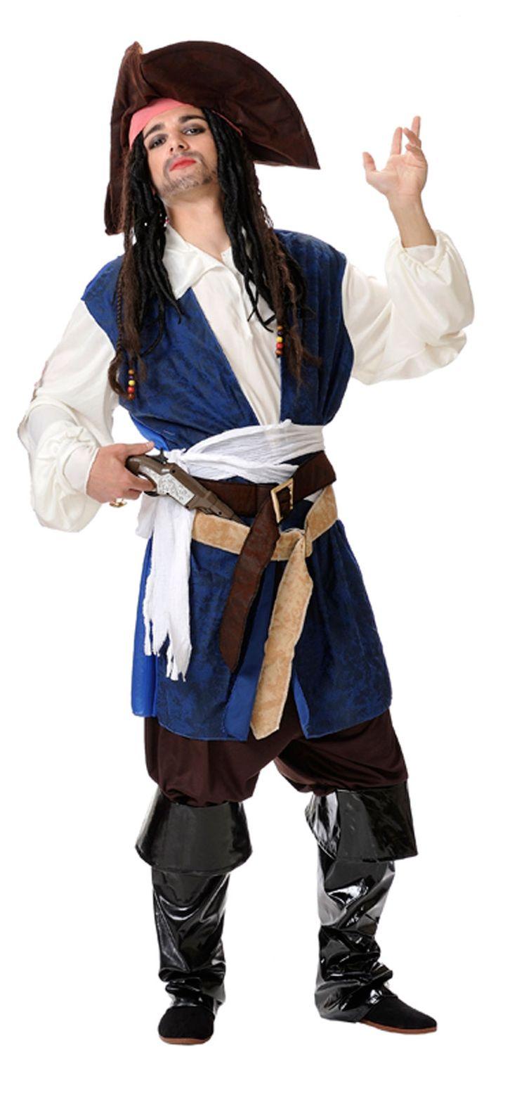 DisfracesMimo, disfraz de pirata del mar hombre talla xl. Conserva la estética más vandálica de estos crueles y malvados piratas del caribe que surcaban los mares en busca de botines y tesoros que robar. Este disfraz es ideal para tus fiestas temáticas de piratas y corsarios para adulto. fabricacion nacional