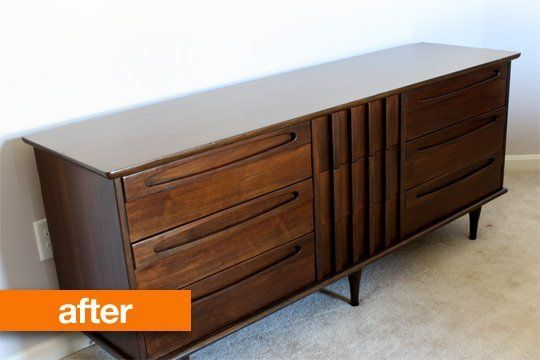 Before & After: Restoring a Mid-Century Modern Dresser ...