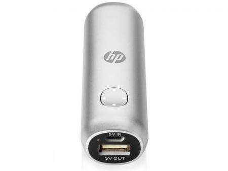 Портативное зарядное устройство HP M1U00AA 2600 mAh серебристый  — 1250 руб. —