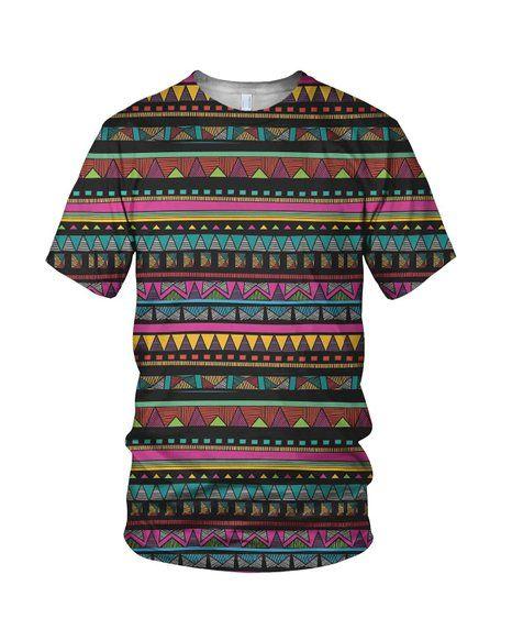 All Over Print Aztec Pattern Men's Fashion T Shirt