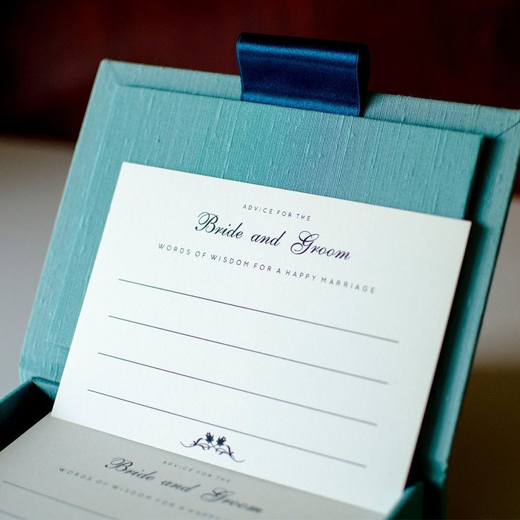Advice Card - Classic | Wedding advice card