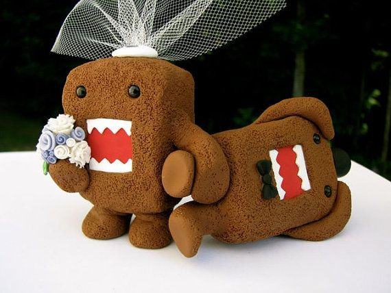 Domo Love wedding cake topper by theaircastle