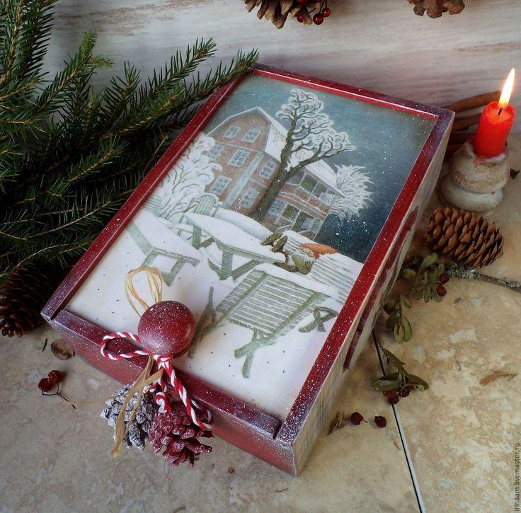 """Купить """" Ниссе в минутку отдыха"""" новогодний короб-пенал - новый год 2016, рождество"""