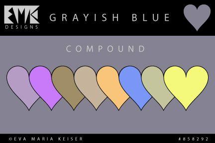 """Eva Maria Keiser Designs: Explore Color: """"Grayish Blue"""" - Compound"""