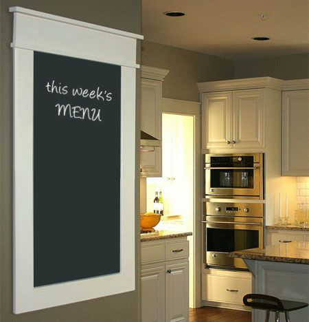 A contemperary chalk board for the kitchen.