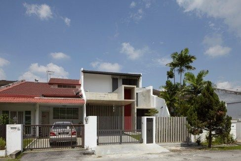 Malaysian Single Storey Terrace Renovated Modern Facade