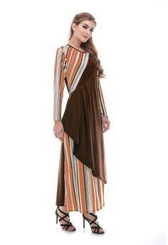 Wanita > Baju Muslim > Dress Muslim > Gamis > Estania Stripe Film EB > Le Najwa