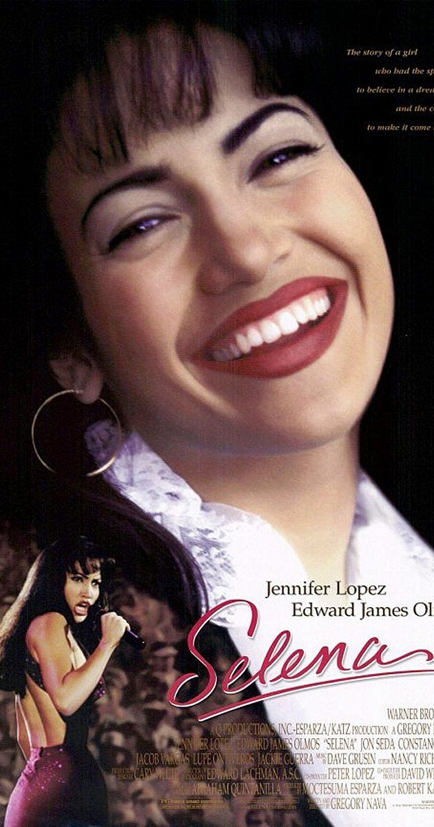 Directed by Gregory Nava.  With Jennifer Lopez, Edward James Olmos, Jon Seda, Jackie Guerra. The true story of Selena Quintanilla-Perez, a Texas-born Tejano singer who rose from cult status to performing at the Astrodome, as well as having chart topping albums on the Latin music charts.