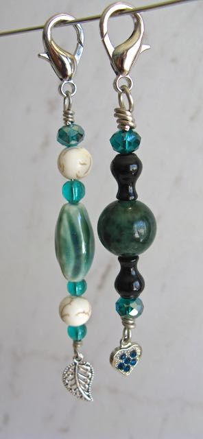 Green stones and crystals purse or keyring charms $9 each.  See more designs at Facebook: Jewelry Designs by Christine