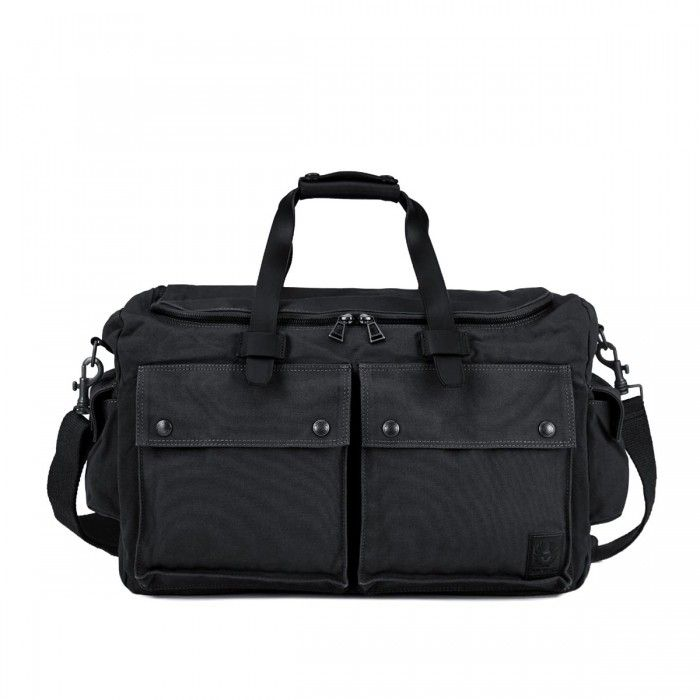 Belstaff Magnum Canvas Weekend Bag Black available at Betty Hemmings.