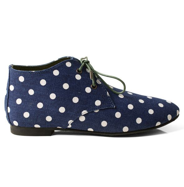 Radical Yes - Studio Home 'Team Work' Co-lab // Abundance Navy Polka Dot Canvas
