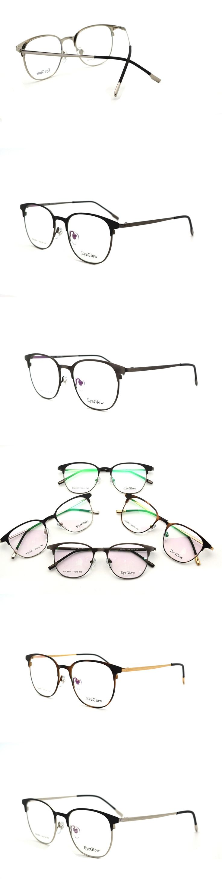 Fashion metal Half frame glasses for women round myopic Prescription glasses can make reading glasses and clear glasses lens