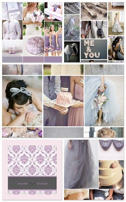 Brass Wishbone: Lavender and Grey Wedding Color Scheme