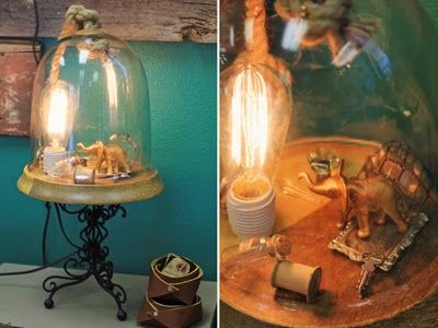 industrial terrarium light. amazing!