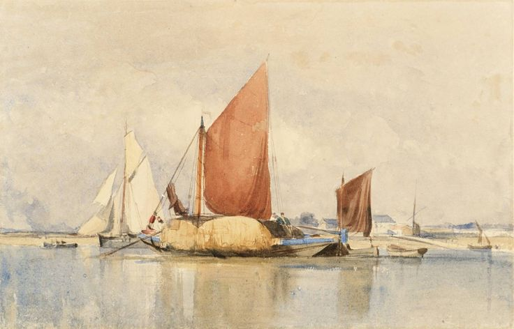 George Chambers, 'The Hay-Barge' date not known Powell collection