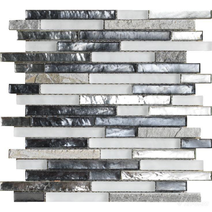 Мозаика L'Antic Colonial Treasures L244000911 TREASURES MIST SHANNAN STRIP белый,серый,черный