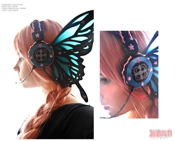 Butterfly Headphones, inspired b the Anime Magnet - by Lenore-Eeva-Leena: Animal Magnets, In Love, Fairies, Stuff, Awesome, Magnets Headphones, Gears, Magnets Vocaloid, Butterflies Headphones
