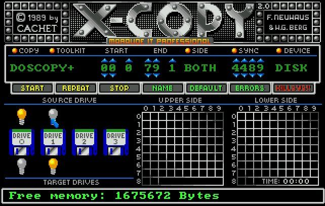 XCOPY Amiga 500 - it's Ok to say I had this now, right? The statute of limitations has surely run out.