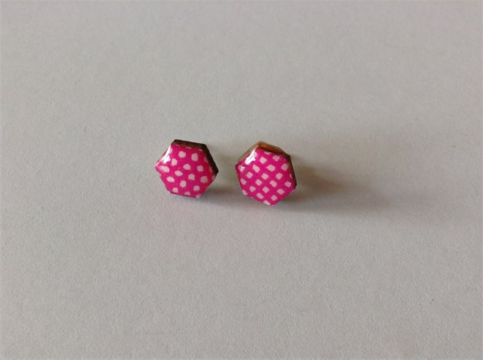 Pink and White Hexi's