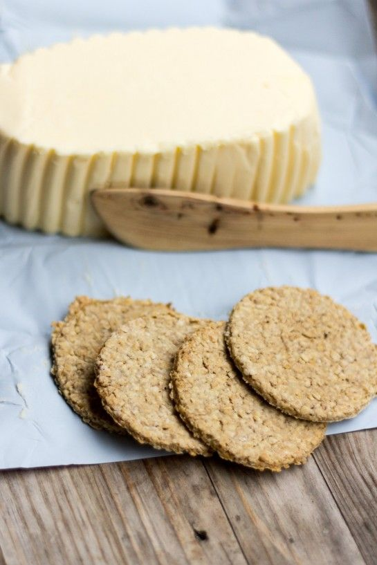 Scottish Oatcakes Double recipe except salt and water,add about half cup spelt flour