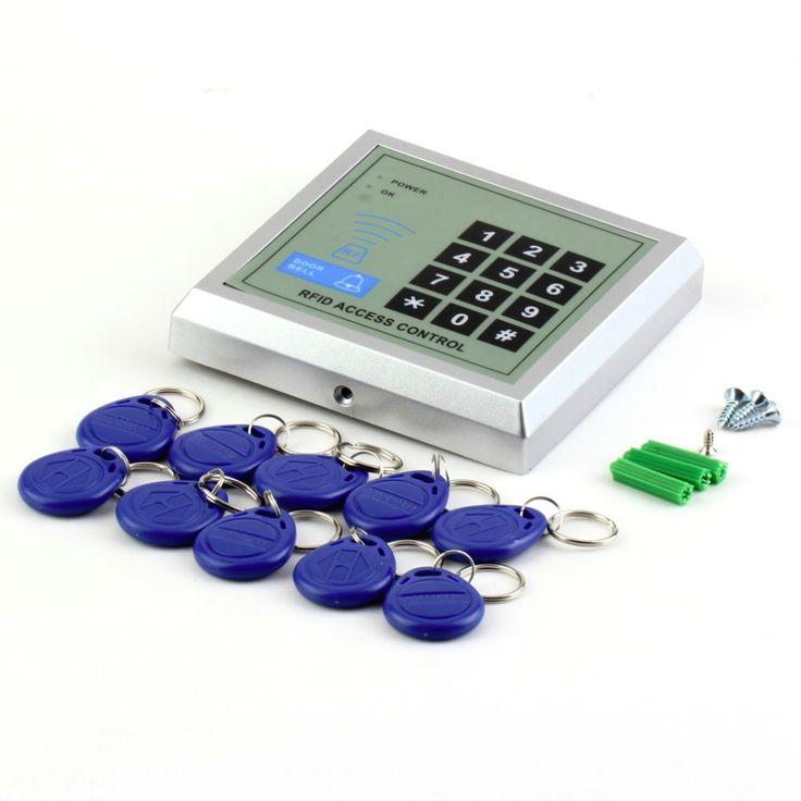 1 Unidades Seguridad Electrónica Cerradura de La Puerta de Entrada de Proximidad RFID Sistema de Control de Acceso + 10 Llaveros calientes de búsqueda