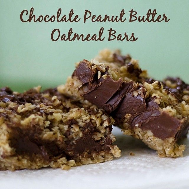 The only thing better than dessert is one that requires no baking! Check out this recipe for Chocolate Peanut Butter Oatmeal Bars!