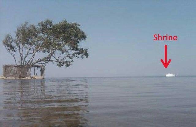 Shrine of Noori Jam Tamachi in the middle of keenjhar Lake Thatta Sindh Pakistan