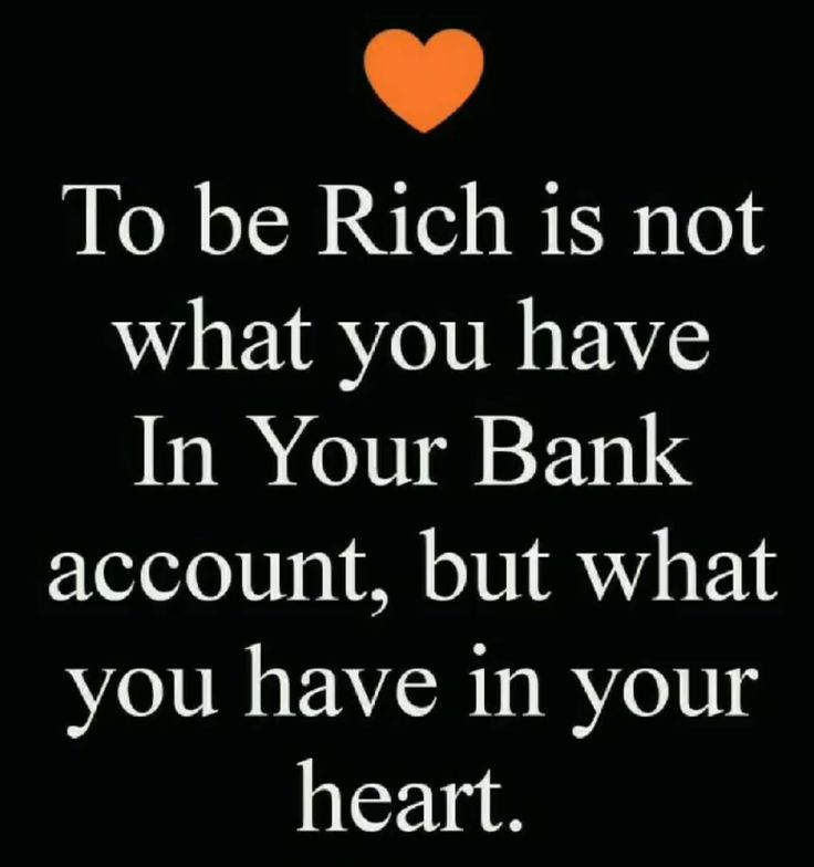 The definition of wealth.