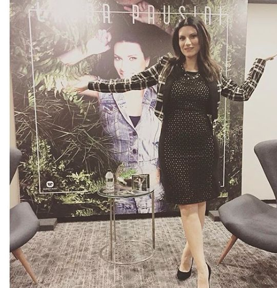 "Laura Pausini wearing Black & white tartan jacket ""Fiftyfour"", available on our shop online ❤️❤️❤️"