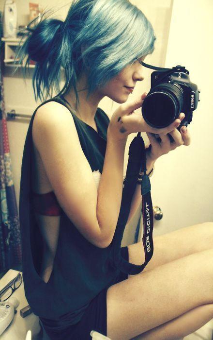 #blue #dyed #hair #pretty    #pretty#style