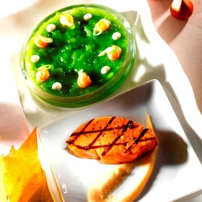 Foie gras au concombre par Marc Meneau