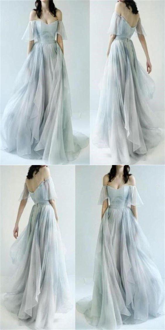 Charming Off Shoulder Unique Design Most Popular Long Prom Dresses ,Bridal gowns