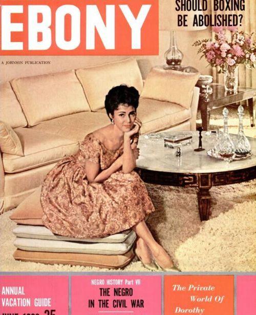 Dorothy on the cover of Ebony Magazine