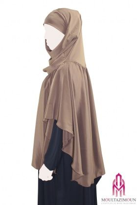 Khimar with gathers