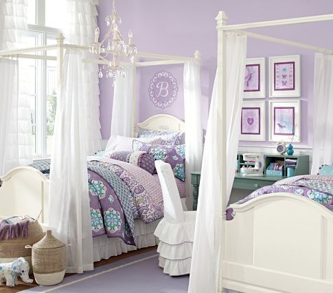 Madeline Bed & Canopy | Pottery Barn Kids    Looking for a bed for my oldest daughter...  Or this?