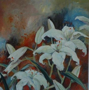 Painted in 2011 - 80 x80 cm by Mai-Britt Schultz